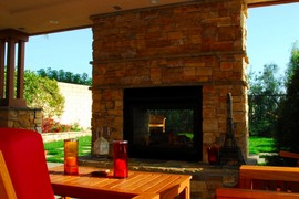 暖炉,埋め込み型暖炉,ビルトイン暖炉,レンガ,屋外暖炉